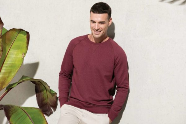 MEN'S ORGANIC COTTON CREW NECK RAGLAN SLEEVE SWEATSHIRT - ka480 2 - Cérnavarázs