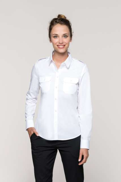LADIES' LONG-SLEEVED PILOT SHIRT - ka506 1 - Cérnavarázs