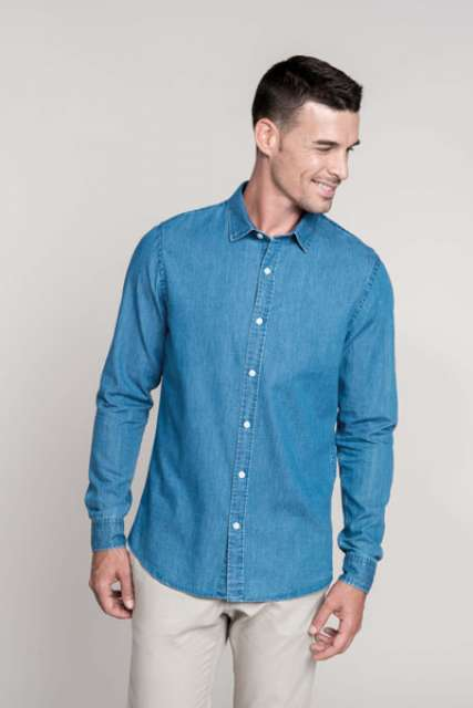 MEN'S CHAMBRAY SHIRT - ka512 1 - Cérnavarázs