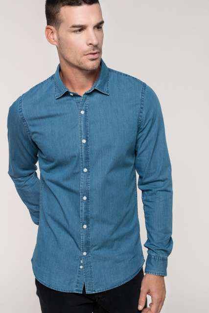 MEN'S CHAMBRAY SHIRT - ka512 2 - Cérnavarázs