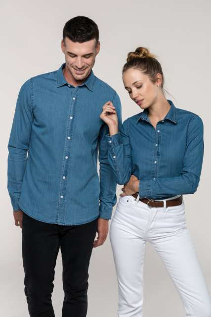 MEN'S CHAMBRAY SHIRT - ka512 3 - Cérnavarázs