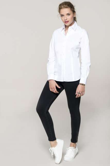 LADIES' LONG-SLEEVED STRETCH SHIRT - ka530 2 - Cérnavarázs