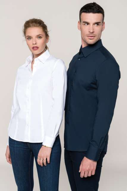 LADIES' LONG-SLEEVED STRETCH SHIRT - ka530 3 - Cérnavarázs