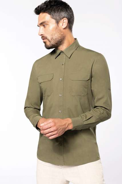 MEN'S LONG-SLEEVED SAFARI SHIRT - ka590 1 - Cérnavarázs