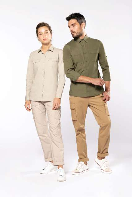 MEN'S LONG-SLEEVED SAFARI SHIRT - ka590 2 - Cérnavarázs