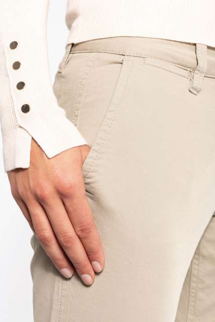 LADIES' 7/8 CHINO TROUSER - ka749 4 - Cérnavarázs