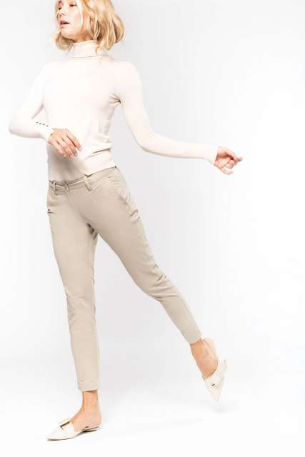 LADIES' 7/8 CHINO TROUSER - ka749 5 - Cérnavarázs