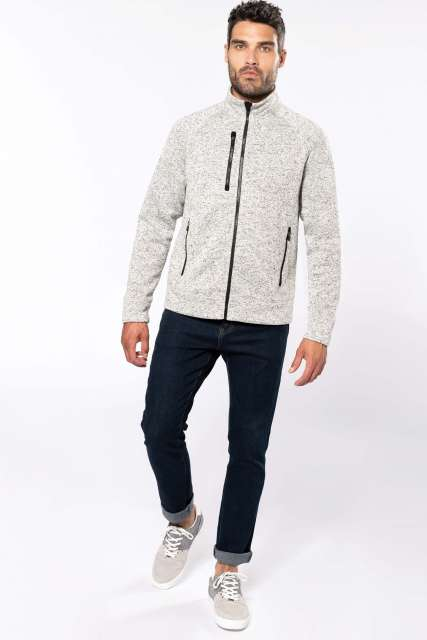 MEN'S FULL ZIP HEATHER JACKET - ka9106 5 - Cérnavarázs