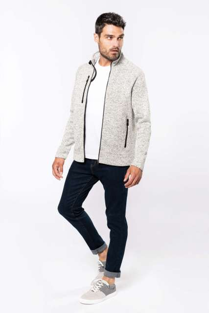 MEN'S FULL ZIP HEATHER JACKET - ka9106 6 - Cérnavarázs
