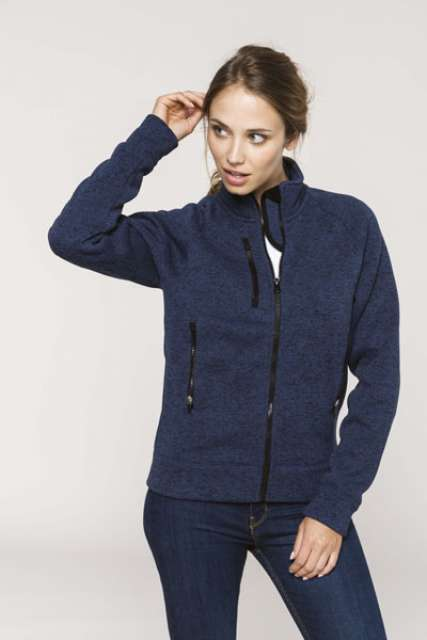 LADIES' FULL ZIP HEATHER JACKET - ka9107 3 - Cérnavarázs