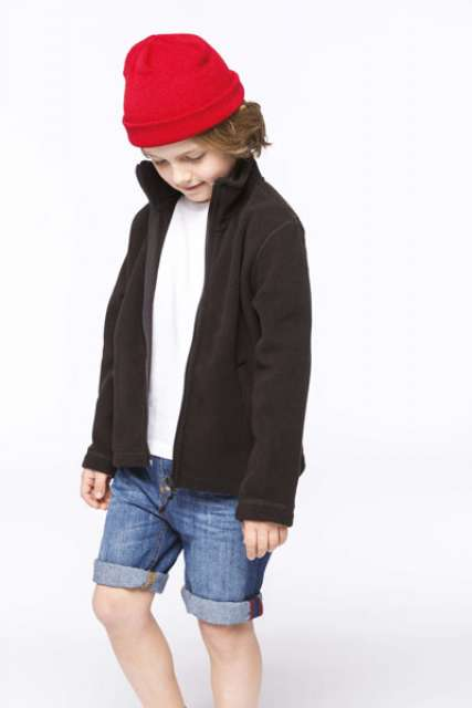 KIDS' FULL ZIP FLEECE JACKET - ka920 1 - Cérnavarázs