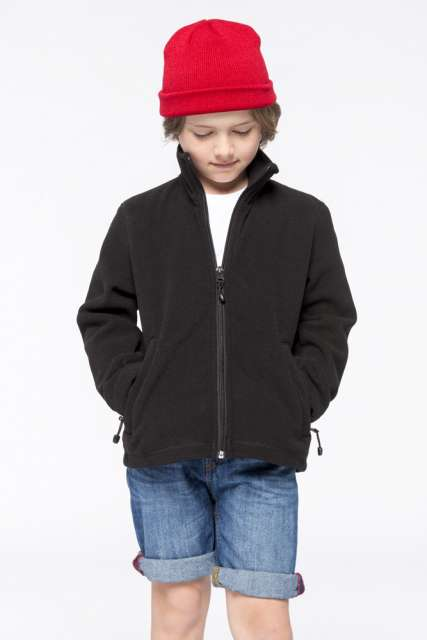 KIDS' FULL ZIP FLEECE JACKET - ka920 2 - Cérnavarázs