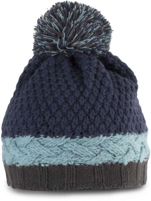 COLOURBLOCK BOBBLE BEANIE - kp536 2 - Cérnavarázs