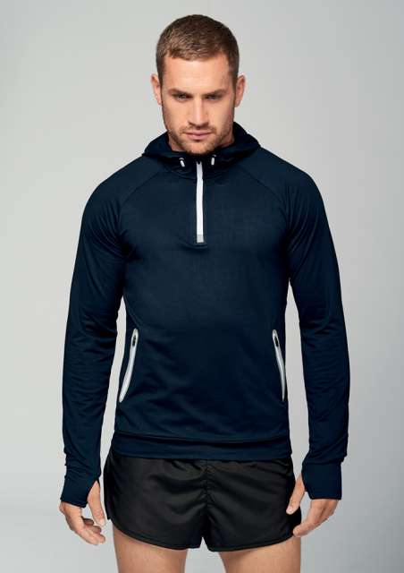 ZIP NECK HOODED SPORTS SWEATSHIRT - pa360 1 - Cérnavarázs