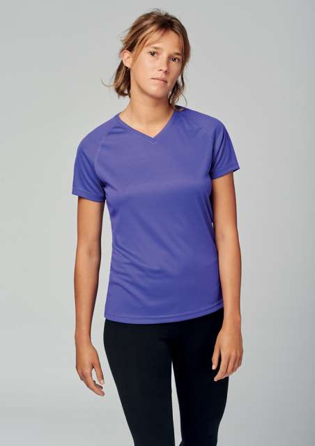LADIES' V-NECK SHORT SLEEVE SPORTS T-SHIRT - pa477 1 - Cérnavarázs
