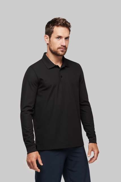 ADULT COOL PLUS® LONG SLEEVE POLO SHIRT - pa495 1 - Cérnavarázs