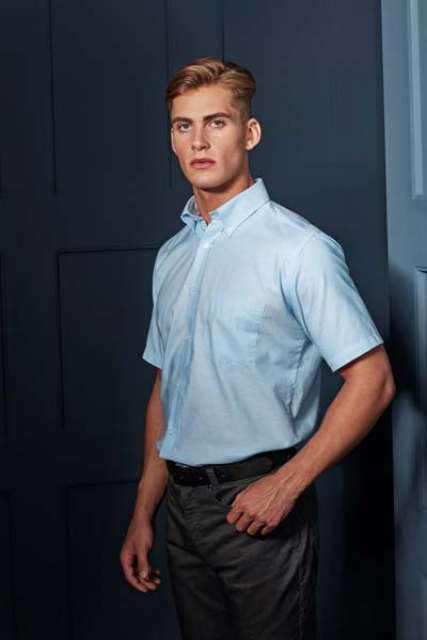 MEN'S SHORT SLEEVE SIGNATURE OXFORD SHIRT - pr236 3 - Cérnavarázs