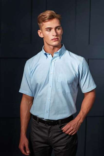 MEN'S SHORT SLEEVE SIGNATURE OXFORD SHIRT - pr236 5 - Cérnavarázs