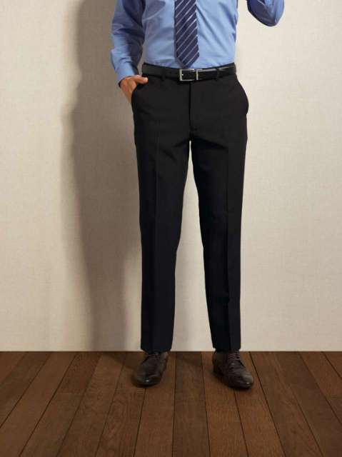 MEN'S LONG TAILORED POLYESTER TROUSERS - pr526l 2 - Cérnavarázs