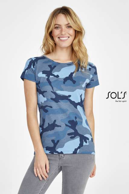 CAMO WOMEN - ROUND COLLAR T-SHIRT - so01187 2 - Cérnavarázs