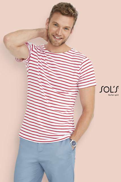 MILES MEN - ROUND NECK STRIPED T-SHIRT - so01398 2 - Cérnavarázs