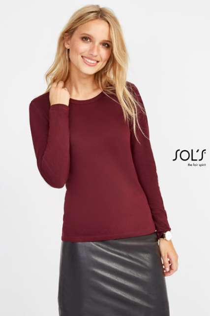 MAJESTIC - WOMEN'S ROUND COLLAR LONG SLEEVE T-SHIRT - so11425 3 - Cérnavarázs